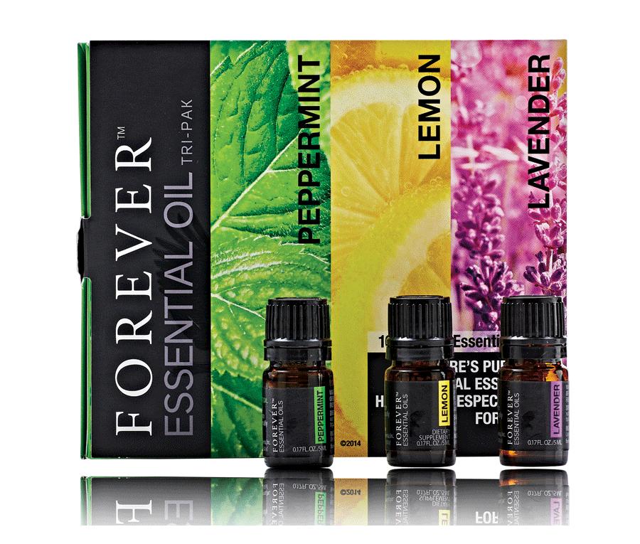 Olejki eteryczne Forever Essential Oils Tri-Pak